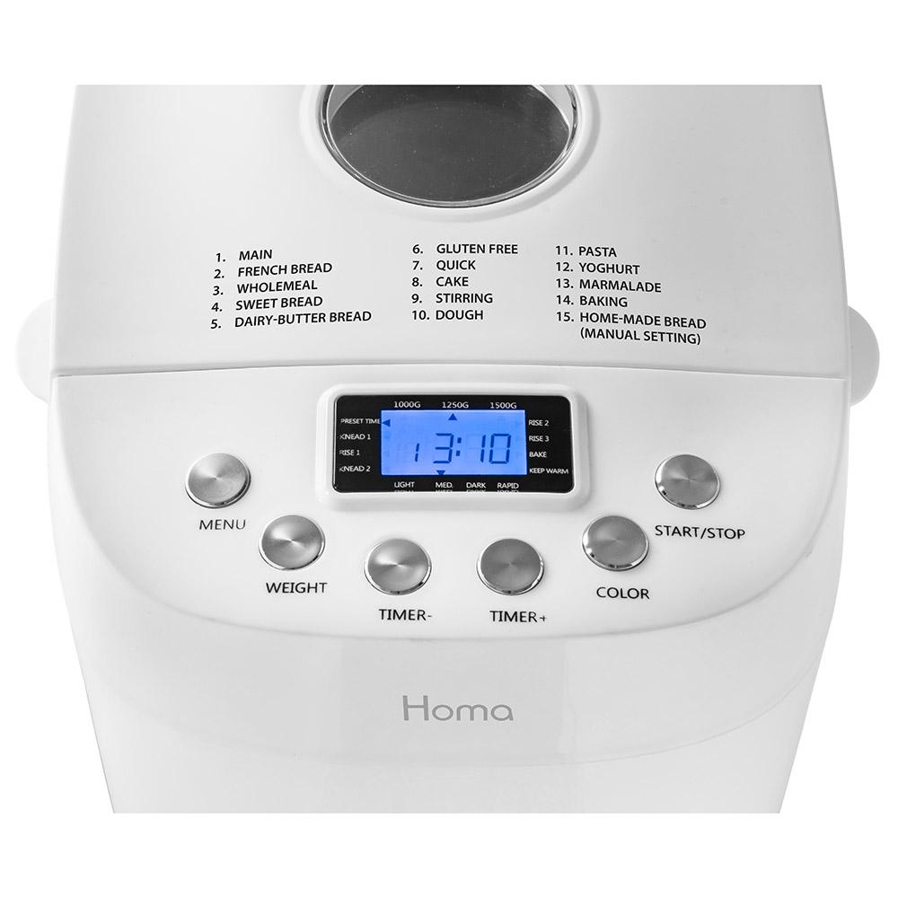 Хлебопекарна HOMA HBM-1522 с две бъркалки